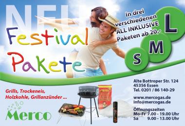 Festivalpakete - Trockeneis + Grills